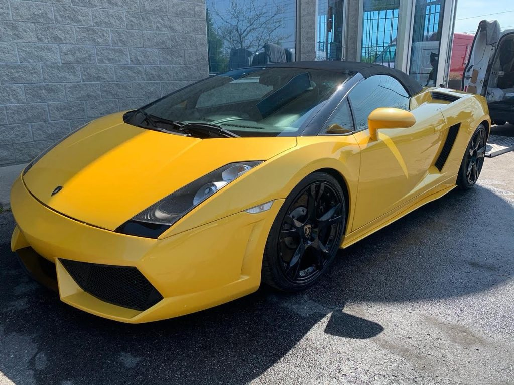 Ceramic coating lamborghini gallarado spyder